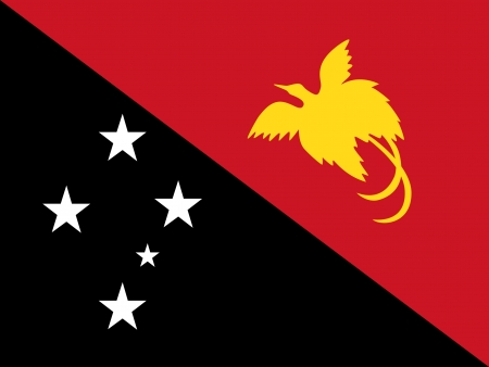 correctly: original and simple Papua New Guinea flag isolated vector in official colors and Proportion Correctly