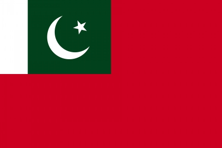 correctly: original and simple Pakistan flag isolated vector in official colors and Proportion Correctly  Pakistan Civil Ensign