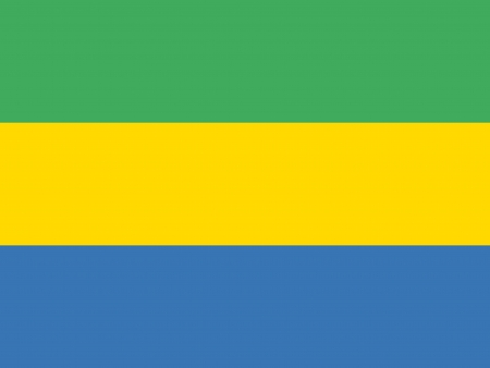 correctly: original and simple Gabon flag isolated vector in official colors and Proportion Correctly