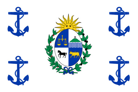 correctly: original and simple Uruguay Presidential Standard flag isolated vector in official colors and Proportion Correctly Illustration