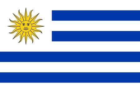 bandeira de Uruguai isolado vector original e simples em cores oficiais e Propor��o Corretamente