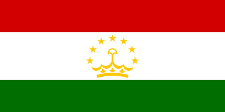 proportion: original and simple Tajikistan flag isolated vector in official colors and Proportion Correctly Illustration