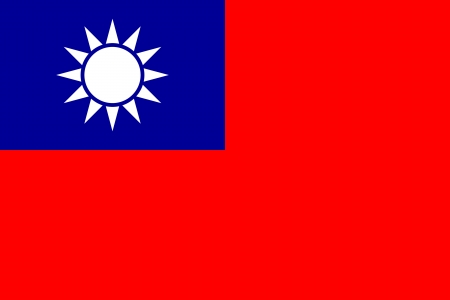 correctly: original and simple Taiwan   Republic of China flag isolated vector in official colors and Proportion Correctly