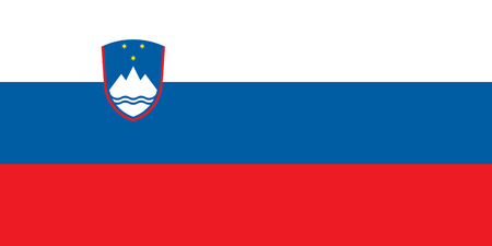 correctly: original and simple Slovenia flag isolated vector in official colors and Proportion Correctly Illustration