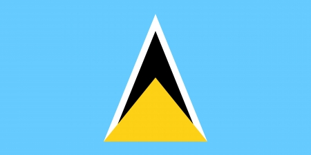 proportion: original and simple Saint Lucia flag isolated vector in official colors and Proportion Correctly
