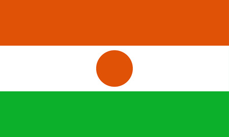 proportion: original and simple Republic of Niger flag isolated vector in official colors and Proportion Correctly