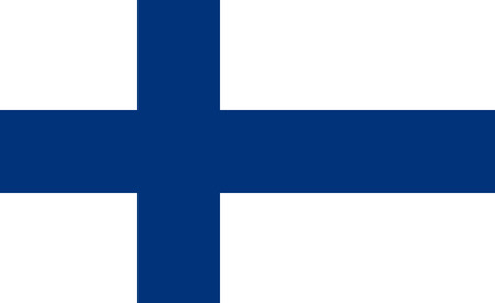 original and simple Finland flag isolated vector in official colors and Proportion Correctly Vector