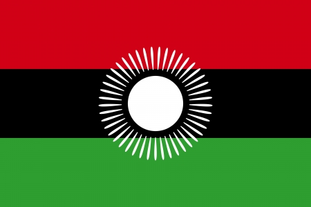 former: original and simple Malawi former flag  2010-2012  isolated vector in official colors and Proportion Correctly Illustration