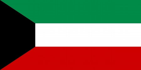 correctly: original and simple Kuwait flag isolated vector in official colors and Proportion Correctly