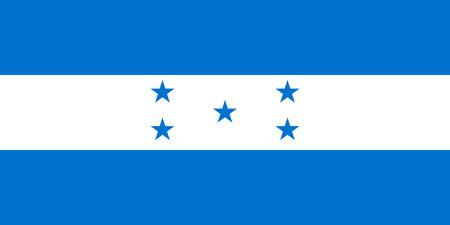 bandera honduras: bandera original y simple Honduras aislado vector en colores oficiales y Proporción correctamente Vectores