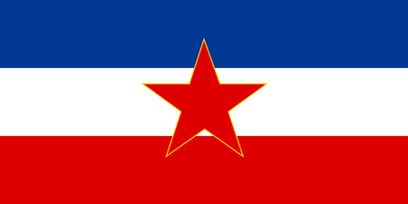 proportion: original and simple Yugoslavia flag isolated vector in official colors and Proportion Correctly