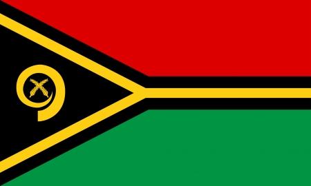 oceania:  Vanuatu flag   Illustration