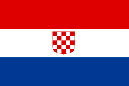 croatia flag: original and simple The Banate of Croatia flag isolated vector in official colors and Proportion Correctly