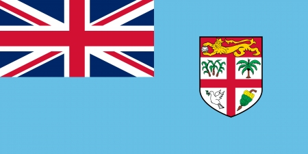 waving flag:  Fiji flag   Illustration