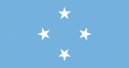 tricolour:  Federated States of Micronesia  FSM  flag Illustration