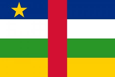 afrika:   Central African Republic flag   Illustration