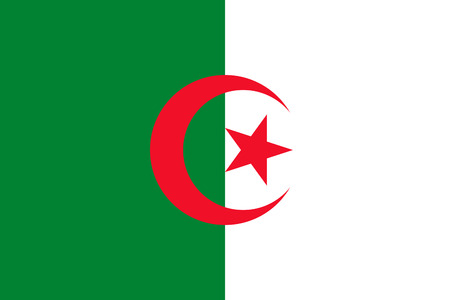 proportion: original and simple Algeria flag isolated vector in official colors and Proportion Correctly Illustration
