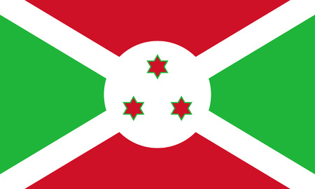afrika: original and simple Burundi flag isolated vector in official colors and Proportion Correctly Illustration