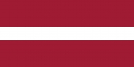 proportion: original and simple Latvia flag isolated vector in official colors and Proportion Correctly Illustration