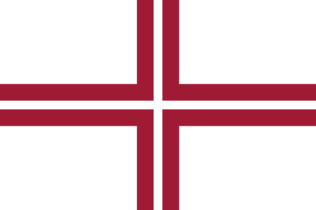 correctly: original and simple Latvia Naval flag isolated vector in official colors and Proportion Correctly