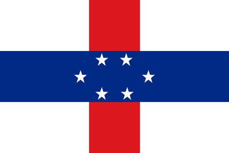 correctly: original and simple Netherlands Antilles flag isolated vector in official colors and Proportion Correctly