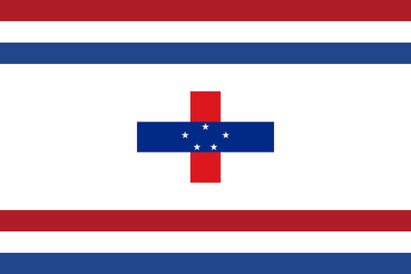 proportion: original and simple Netherlands Antilles The Governor flag isolated vector in official colors and Proportion Correctly