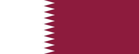 correctly: original and simple Qatar flag isolated vector in official colors and Proportion Correctly