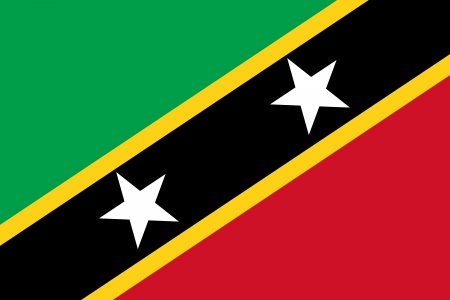 original and simple Saint Kitts and Nevis flag isolated vector in official colors and Proportion Correctly Vector