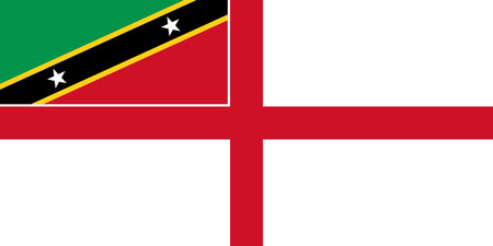 correctly: original and simple Saint Kitts and Nevis Naval flag isolated vector in official colors and Proportion Correctly Illustration