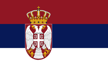 proportion: original and simple Serbia flag isolated vector in official colors and Proportion Correctly
