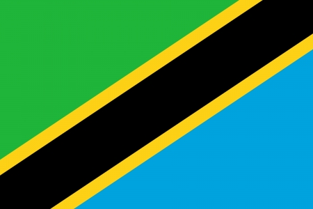 proportion: original and simple Tanzania flag isolated vector in official colors and Proportion Correctly