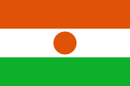 original and simple Republic of Niger flag isolated vector in official colors and Proportion Correctly   scale 2 3   Illustration