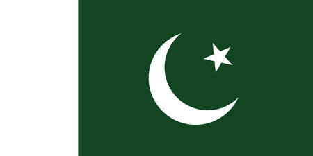 original and simple Pakistan Naval flag isolated vector in official colors and Proportion Correctly