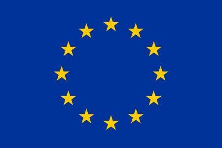 bandeira original e simples Europa UE isolado do vetor em cores oficiais e Propor