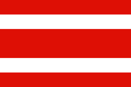 original and simple Thailand Civil Flag  1917  isolated vector in official colors and Proportion Correctly