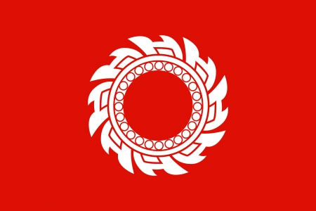 original and simple Kingdom of  Thailand Flag  1790-1820  isolated vector in official colors and Proportion Correctly