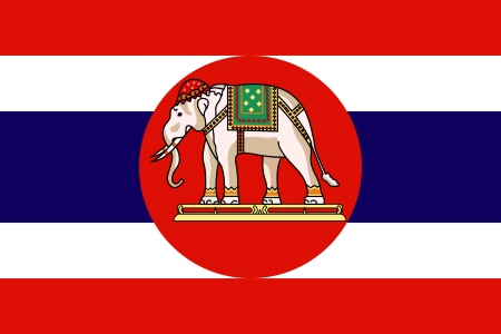 correctly: original and simple Kingdom of  Thailand Royal Navy Flag isolated vector in official colors and Proportion Correctly