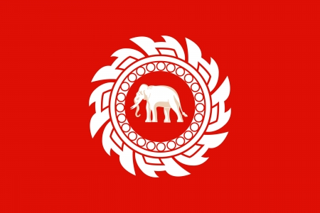 original and simple Kingdom of  Thailand Flag  1820â  1855  isolated vector in official colors and Proportion Correctly Illustration