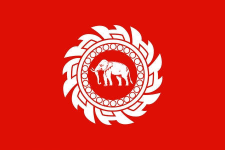 original and simple Kingdom of  Thailand Flag  1820–1855  isolated vector in official colors and Proportion Correctly
