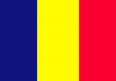 original and simple The Principality of Andorra Civil flag isolated vector in official colors and Proportion Correctly Иллюстрация