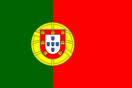 bandeira de Portugal isolado vector original e simples nas cores oficiais e propor��o corretamente Ilustra��o