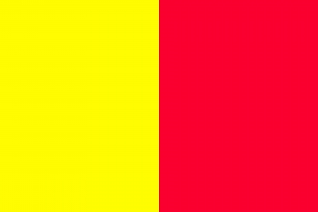 O Principado de Andorra bandeira 1806-1866 isolado vector original e simples em cores oficiais e Propor