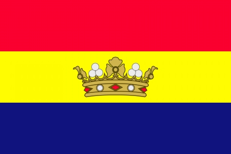 original and simple The Principality of Andorra flag 1866-1939 isolated vector in official colors and Proportion Correctly