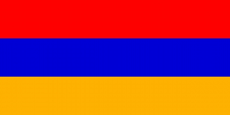 correctly: original and simple Armenia flag isolated vector in official colors and Proportion Correctly