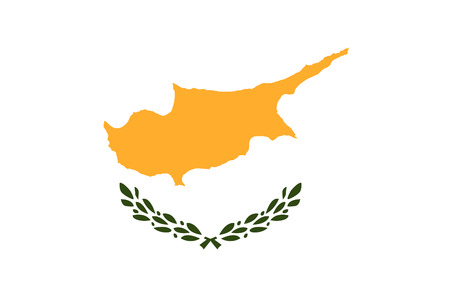 correctly: original and simple Cyprus flag isolated vector in official colors and Proportion Correctly