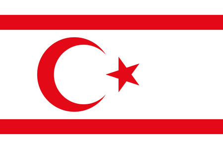 original and simple The Turkish Republic of Northern Cyprus flag isolated vector in official colors and Proportion Correctly Illustration