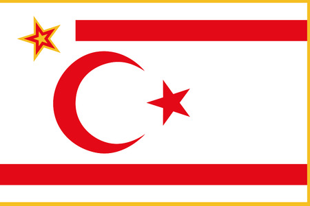 original and simple The Turkish Republic of Northern Cyprus President flag isolated vector in official colors and Proportion Correctly