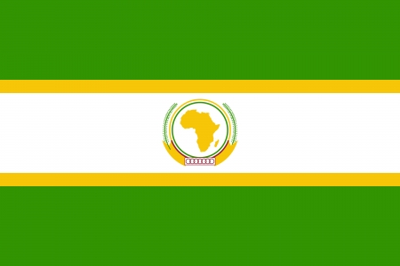 proportion: original and simple African Union Former flag isolated vector in official colors and Proportion Correctly Illustration