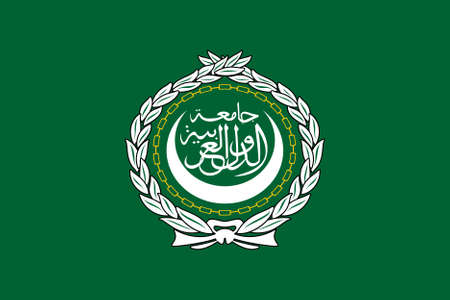 original and simple Arab League flag isolated vector in official colors and Proportion Correctly