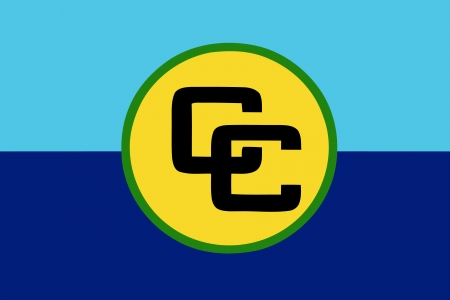 correctly: original and simple Caribbean Community  CARICOM  flag isolated vector in official colors and Proportion Correctly